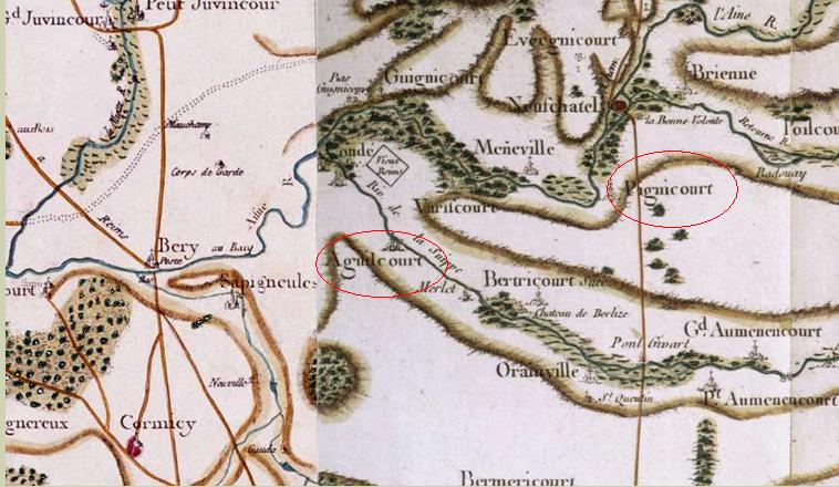Carte de l'Aisne - Source Cassini