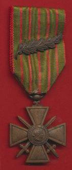 Croix de Guerre 1 palme