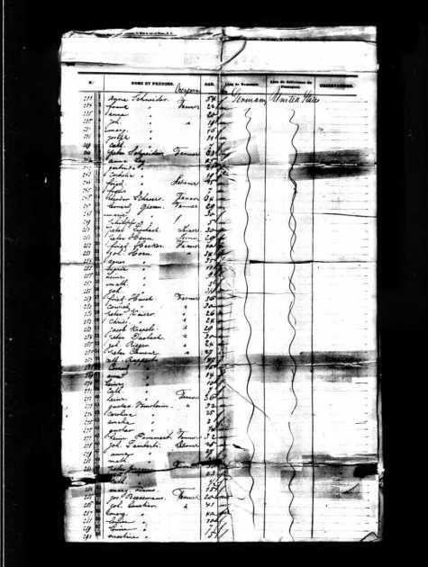 Coutier - William Jarvis Ship Record - 1854 - Leon mistakenly written as Louise